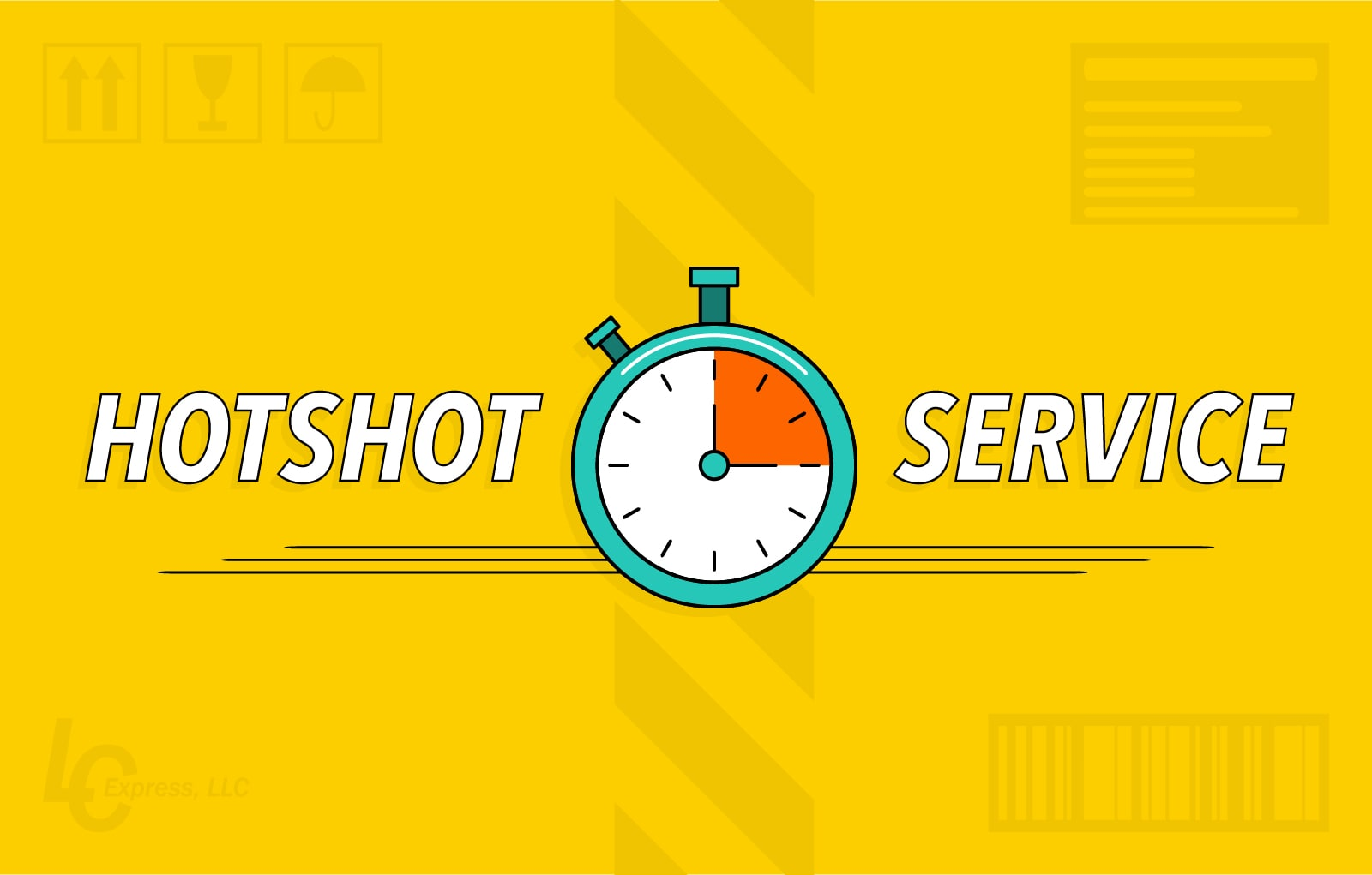 illustration of a clock and the words hotshot service
